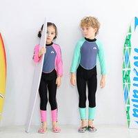 Nadar Traje de baño Middle School One Piece Ba Cremallera Mangas largas Pantalones de manga larga para hombres Natación de mujeres, buceo y trajes de surf