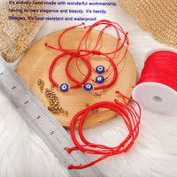 2021 Handmade Evil Blue Eye Charm Braided Chain Rope Bracelet Red Thread for Hand Bracelets Kabbalah Red String Amulet Nazar Family Couple Bestfriend Giftts