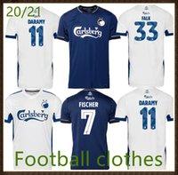 20 21 Camisa de Futebol de Jerseys Camisa infantil Superligaen FC Dinamarca Copenhaga Skov Skov Fischer Zeca Personalizar Nome