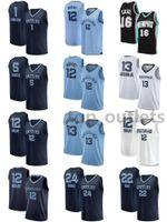 Grizzlies jerseys de basquete JA Morant Jersey Pau Gasol Jaren Jackson Jr. Desmond Bane Dillon Brooks Tyus Jones Kyle Anderson Malha Costura Tamanho S-XXXL Respirável