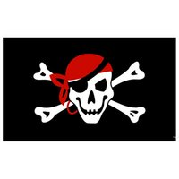 Factory Direct 100% polyester 90 * 150cm Jolly GOGER Drapeaux et bannières Skull Bone Bandanna Skull Cross Cross Brotbones Pirate Drapeau AHD5725