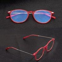 Sonnenbrille Tangowo Runde Anti-Blue Lesebrillen Rahmen Frauen Tragbare Transparente Optische Computerlinsen Frauen Brillen 6019