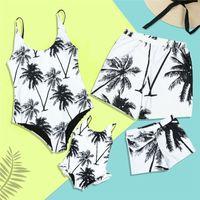 Swimwears Summer Swimwear Mother Daughter Women Kid Baby Girls Swimsuit Bikini Matching Clothes a Family of Four