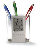 شفافة على مدار الساعة الإلكترونية حامل المنبه ميزان الحرارة تخزين التقويم مكتب الهدايا الإبداعية مبيعات المصنع مباشرة