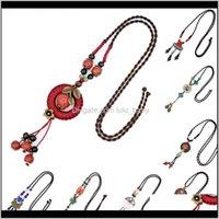 Vintage Céramique Neckalce Collier tressé Femmes Fashion Accessoires quotidiens Chaîne de pull 12 Couleurs Choisissez BSFJA Colliers Axpzd