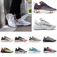 2021 Moda Epic Reaktif Görme Elemanı 55 87 Erkek Bayan Koşu Ayakkabıları Foton Toz Üçlü Siyah Beyaz Açık Spor Eğitmenler Sneakers