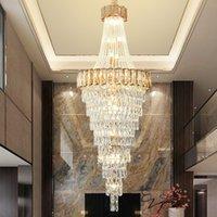 WETOGE amber crystal chandelier diameter 50cm 60cm 70cm 80cm 100cm  lighting contemporary creative led pendant light for villa hotel duplex church decor
