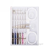 Travel Pocket 6pcs Pre-Threaded Sewing Kit with Scissors   Pre Threaded Needle Kit Travel Sewing Set Clothing Repairing Kit L-0024