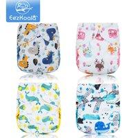 EEZKOALA Großhandel 10 stücke Big XL Größe Tuch Windelabdeckung Waschbare Baby Wiederverwendbare echte Tuch Tasche Windel Windelabdeckung Wrap Wickel 210320