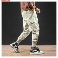 Men's Pants Drop Autumn 2021 Men Streetwear Male Solid Causal Harem Joggers Leggings Mens Japanese Pocket Cargo Long Trousers