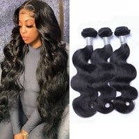 Unprocessed Virgin Human Hair Body Wave Bundles 3 4 pcs lot Indian Weaving Natural Color for Women 8-26 inch