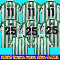 1995 97 Real Betis Retro Soccer Jerseys Finidi 25 1995 1997 Real Betis Match Worn Menendez Rios 21 Finidi 11 Football Jerseys Mailleot de Foot
