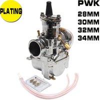 Marka PWK Karbüratör Güç Jetpwk Kaplama Gümüş 28mm 30mm 32mm 34mm Motosiklet Aksesuarları Yakıt Sistemi