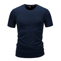 Factory Direct Supply 2020 Summer Hot Short Sleeve Men and Teenagers Fashion Breathable Fitness Solid Color Quick-Drying T-shirt
