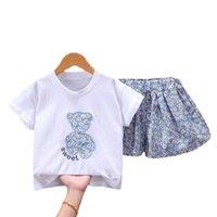 Summer Children Cartoon Clothes Baby Boys Girls Fashion T Shirt Shorts 2Pcs sets Kids Infant Clothing Toddler Casual Tracksuits Sets