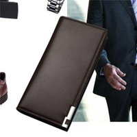 Wallet Long Bussiness Card Holder Hasp Aluminum Metal Credit PU Leather Purse Checkbook Mini For Man Wallets1