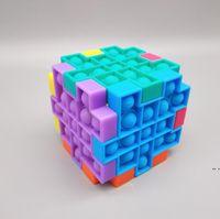 Creative Rubik's Cube Cube Bureau Toy Souris Control Pioneer Silicone Press Baller Sensoriel Fidget Jouet DIY Jouets pour enfants HWC6866