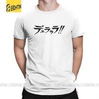 Durarara Tee Gömlek Japon Erkek Siyah O Boyun Işık Roman T Gömlek Kısa Kollu Arıtılmış Pamuk T-Shirt Büyük Boy Basit Stil