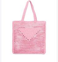 Mulheres Saco de Compras de Palha Vinho Coco Fibra Sacolas Senhoras Verão Moda Beach Crochet Bolsa
