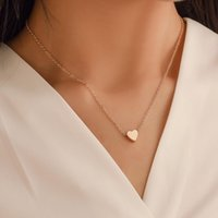 Chokers 2021 Heart Necklace Fashion Choker For Women Girl Golden Silver Color Cross Round Circle Design Collar Jewelry Dropsh