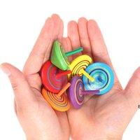 Decompressione del giocattolo della decompressione dell'arcobaleno di legno per i bambini che ruotano i regali di apertura dell'apertura di asilo multicolore HWA5846