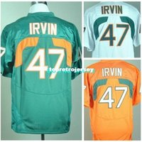 Factory Outlet- Miami Hurricanes Jersey 47 Michael Irvin Jersey 26 Sean Taylor 52 Ray Lewis 87 Reggie Wayne Stitched College Football Jersey