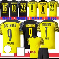 21 22 Haaland Reus Malen Футбол Футбол Джетки Borussia Fan Player Версия домой Выезд Третий 2021 2022 Дортмунд Детские наборы Brandt Plszczek Bellingham Hummels Футбольная рубашка
