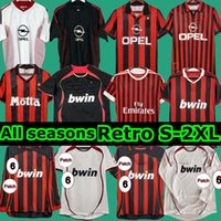 AC 2006 2007 Milan Soccer Jersey 90 91 Retro Camisas Home 96 97 Gullit 02 03 04 Maldini Van Basten Football Ronaldo Kaká Inzaghi 09 10 Shevchenko