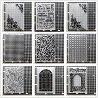 أدوات الحرفية (29 أنماط) الدانتيل مجلدات النقش للأوراق بو لصق بطاقة لوازم بطاقة diy الهندسة البلاستيكية سكرابوكينغ قطع يموت