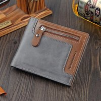 Men Short Wallets Fashion Patchwork Holder Panelled Small Money Clip Three Fold Mini Bag Male Coin Purse1