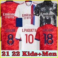 21 22 Lyon Soccer Mailleot Jerseys L.Paquetá 4th 2021 2022 Lyonnais Soccer Jersey Dembélé 9 OL الرقمية الرابع Shaqiri Toko Ekambi Bruno G Boateng Aouar Shirts
