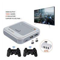 Output Super TV X per PS1 / N64 / DC 50+ Emulatori 40000+ Giochi all'interno S905M Wired Gamepad Gamepad Gioco portatile Gioco