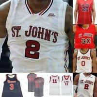 Maglie di pallacanestro della tempesta rossa di St. John di John David Caraher Nick Rutherford Greg Williams Jr. Chris Mullin Metta World Pace