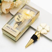 Party Favor Lucky Clover Wine Bottle Stopper Four Leaf Stoppers Wedding Favors Birthday Gift Event Giveaways GWE6489