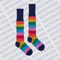 Gökkuşağı Mektubu Bayan Çorap Iç Çamaşırı Erkek Kadın Spor Çorap Yumuşak Pamuk Kız Uzun Çorap Sokak Hip Hop Çorap Hediyeler