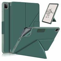 변압기 케이스 iPad Pro 11 12.9 태블릿 폴리오 다중보기 각도 가죽 스탠드 마그네틱 TPU 백 커버 케이스 자동 깨우기 / 수면