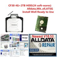 2021 hot All data auto repair Alldata 10.53 m.t.l 2015 ATSG 2017 24 in 2TB HDD install well computer For toughbook cf30 laptop 4g