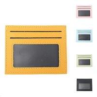 İnce Kart Paketi Blokaj Deri Cüzdan Şeker Renk Sikke Çanta Para Durumda Erkek Kadın Çanta Zip Kredi Kartları Depolama Kısa Cüzdanlar