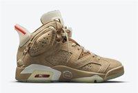Travis Scott X Authentique 6 Chaussures de plein air Kaki Britanniques Cactus Jack Sude lueur dans les hommes sombres SB 1S High Chicago Fragment Baskets Dunk