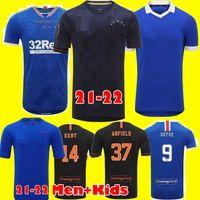 Glasgow Rangers Champions 55 Version Soccer Jerseys 2021 Defoe Morelos Kent Aribo Arfield 20 21 22 Herren Kids Kits Football Jersey