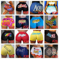 Small Snack Shorts Sexy Mulheres Respirável Booty Bodycon Mini Gushers Snack Snack Booty Yoga Calças Cerco Cerca Doces Shorts Skinny Fast Shorts