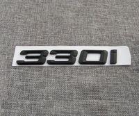 Mat Siyah ABS Numarası Mektuplar Kelime Araba Trunk Rozeti Amblem Mektubu Çıkartması Sticker BMW 3 Serisi 330i için