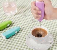 Süt İçecek Kahve Çöp Mikser Elektrikli Yumurta Çırpıcı Frooter Foamer Mini Kolu Karıştırıcı Pratik Mutfak Pişirme Eşyaları 10 adet