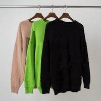 21FW мужские свитера дизайнерские писем печатает женский свитер мода осенью и зимние плюшевые высококачественные верхние многоцветные размеры S-2XL