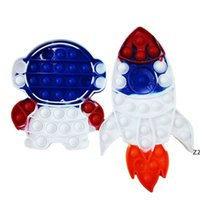 Squeeze Bubble Fingertip Toy Rocket Astronaut Model Deratization Pioneer Silicone Decompression Children's Gift Anti Stress Toys HWF101