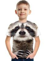 2021 Cute Dog 3D Print T-Shirts Children Kids Streetwear Funny Cartoon Animal Tees Tops Boys Girls Sportswear Fashion T Shirt Harajuku Clothing