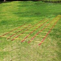 Outdoor-Fitnessgeräte 3/5/5/8/8 / 10m Geschwindigkeits-Trainingsleiter-flache Runde Beweglichkeitsgurte mit Tasche Fußball Fußballsport