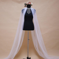 Wraps Jacken Perlen Tüll Wedding Wrap Kleid Cape Lange Achselhöhlen für Frauen Mariage Brautjacke mit Birnen