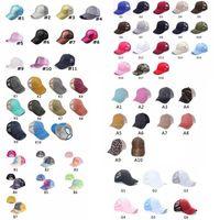 씻어 포니 테일 야구 모자 지저분한 빵 모자 크리스 코튼 유니섹스 바이저 모자 모자 야외 스냅 백 Caps GGA3506