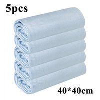 Cleaning Cloths 1 5PCS No Trace Absorbable 40*40CM Soft Microfiber Window Car Rag Towel Kitchen Cloth Wipes Glass